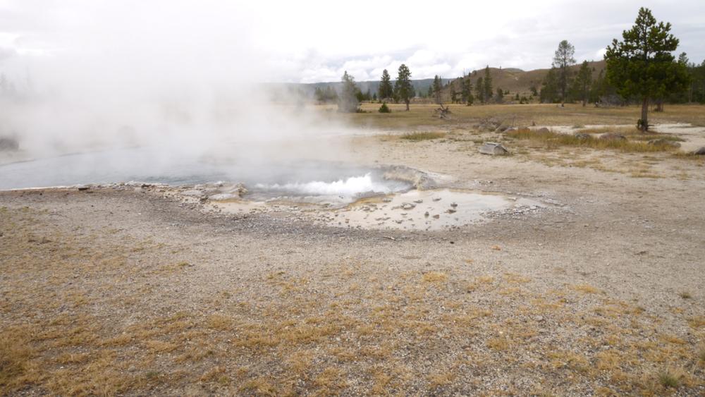 常に沸騰している温泉